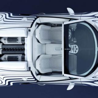 Bugatti Veyron stannas av cykelpolis