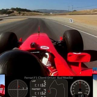 F1-bil delad i mitten