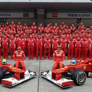 Ferrari F2008 start och burnout