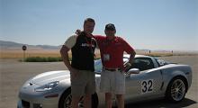 """""""SweAnders"""" Hansson och Roland Roth vid den sistnämndes nya Corvette Z06. Snart ska det bli åka av!"""