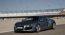 Ovalbanan fick vi aldrig prova, där snodde ett antal Nascar-bilar runt och förgyllde tillvaron för oss Audi-provare.