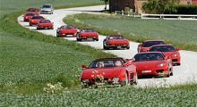 Flera Ferrariträffar i Skåne har det blivit, och nu har Henrik startat en klubb.