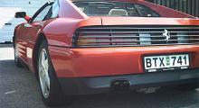 De svarta ribborna fanns på två Ferrarimodeller: Testarossa och 348.