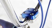 Alla detaljer var lite grövre dimensionerade än på en vanlig cykel.
