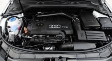 Tvålitersmotorn med turbo brukar vara en piggelin, men i A3 cabriolet känns de 200 hästkrafterna lite hängiga.