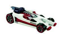 """Hondas tidiga formelbilar har inspirerat. Tyvärr har 1:64-bilen fått en """"brygga"""" mellan framhjulen, antagligen vore det för komplicerat att bygga en leksaksbil utan stel axel."""