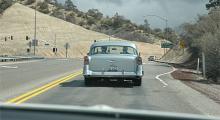 """En lätt """"customized"""" Chevrolet Bel Air 1956 förstås."""