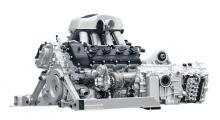 Egenkonstruerad dubbelturbo-V8 med 600 hk och utseende som en katedral. Den vill man höra!