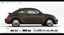 På tyska hemsidan www.volkswagen.de kan du redan konfigurera nya Beetle. Vår favorit blev Toffeebraun Metallic med 17-tums retrofälgarna Circle. Vilken blir din?