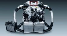 VR38DETT, själva hjärtat i monstret levererar nu 550 hästkrafter samtidigt som man lyckats sänka bränsleförbrukningen.