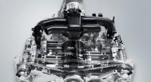 Jämfört med en Impreza sitter motorn cirka 10 centimeter lägre och cirka 20 centimeter längre in mot kupén.