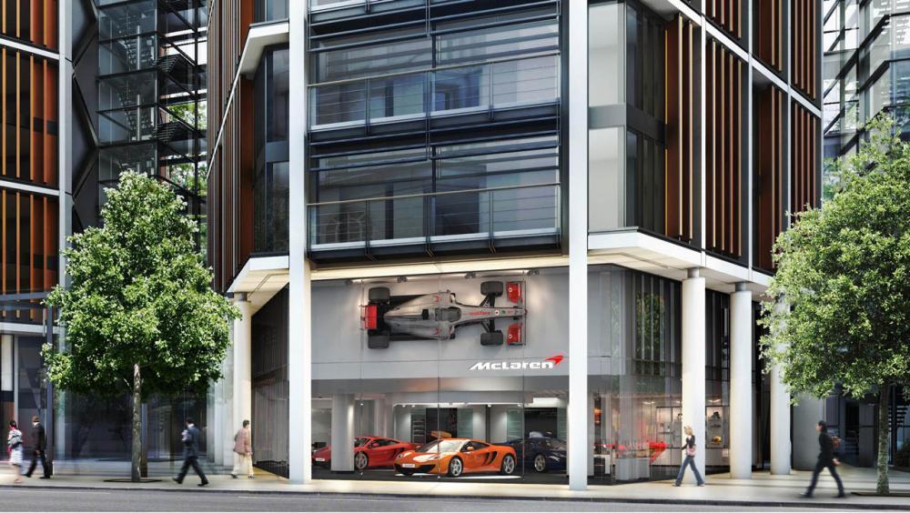 McLarens första av 35 showroom