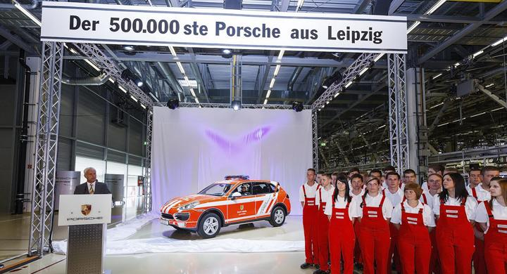 Porsche Leipzig firar 500 000 fordon