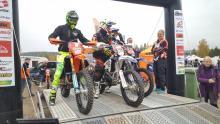 Ljunggren, Elowson och Persson på startrampen – precis så som de senare slutade i mästerskapet.