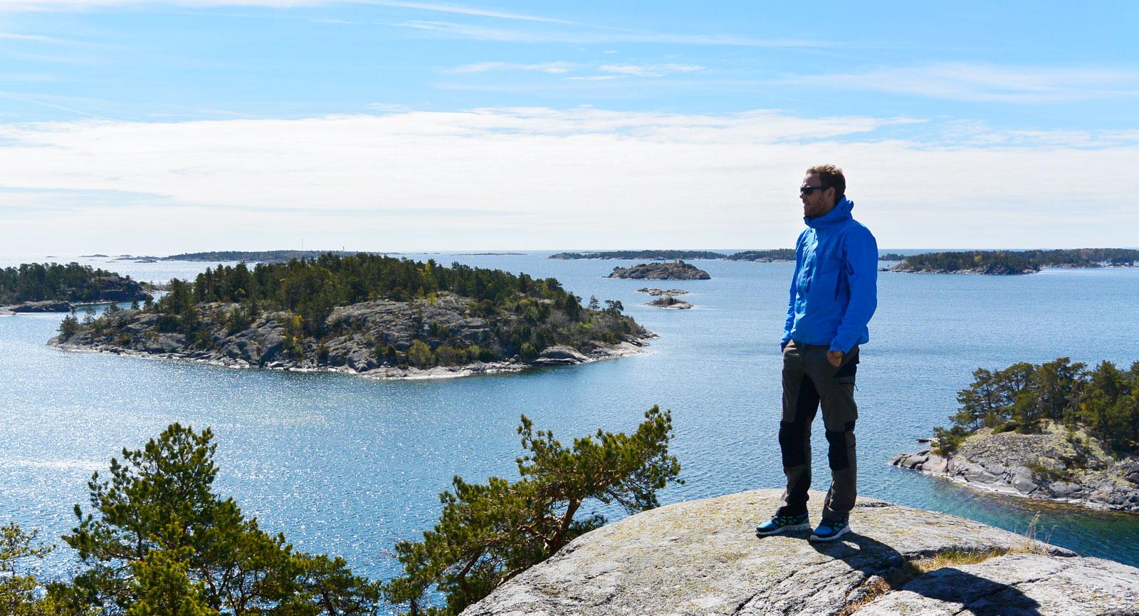 Mäktig utsikt från Gubbö kupa.
