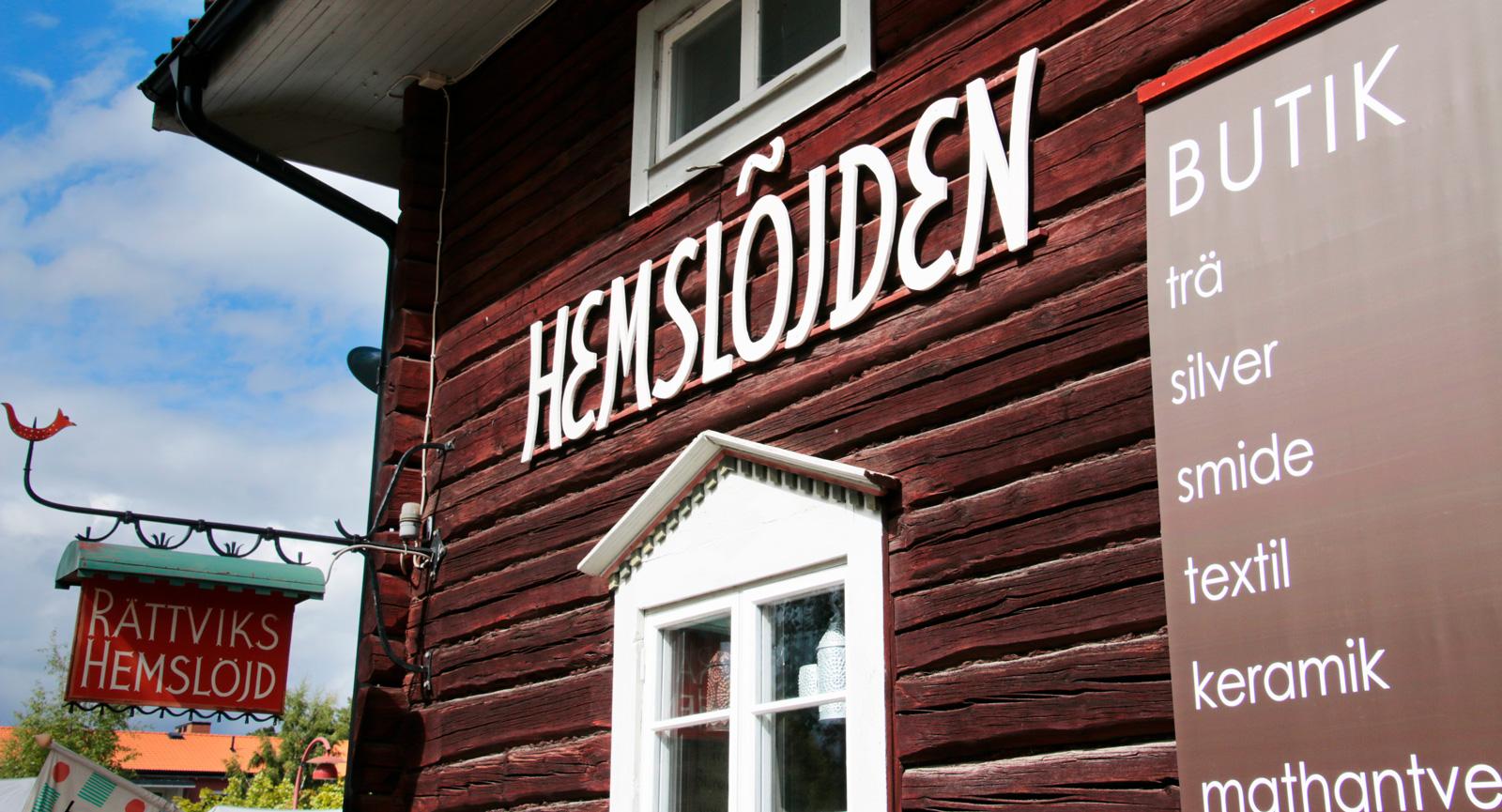 Missa inte att besöka hemslöjdsbutikerna i Leksand och Rättvik, med hantverk i mängd.