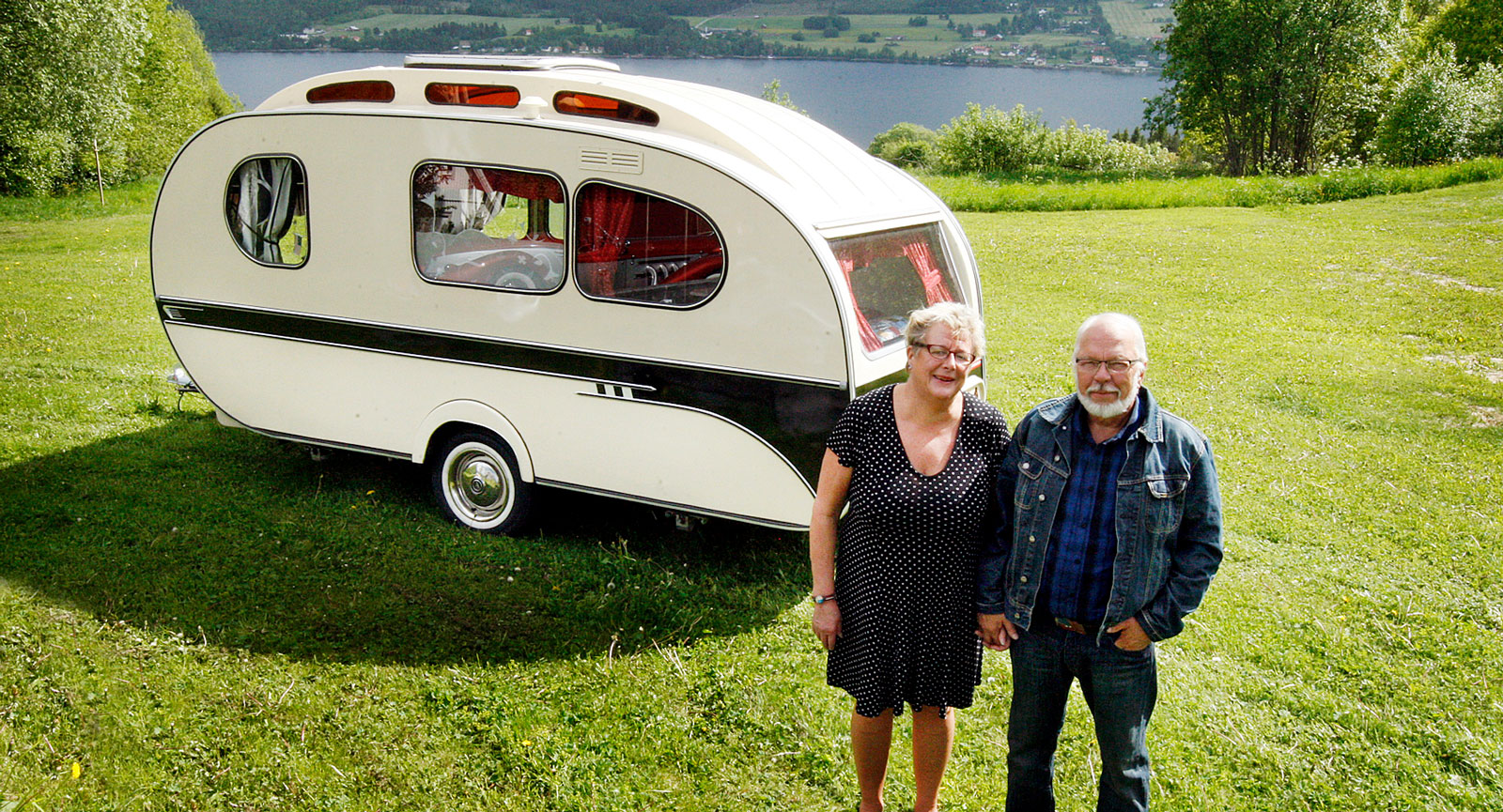 Husvagnen blev precis så fin som vi hoppades, säger Siv och Leif.