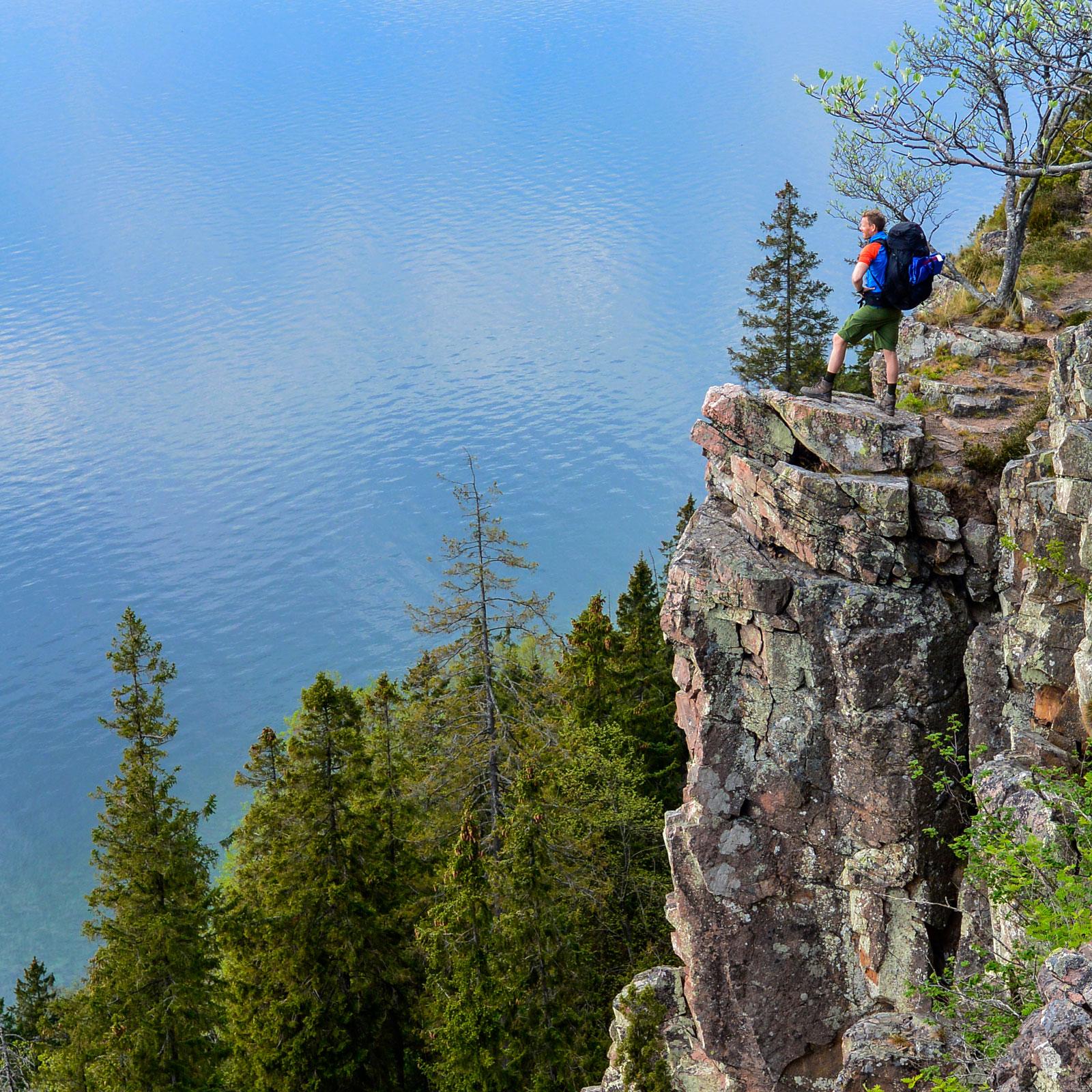 Höjdare. På toppen av Västra väggars vertikala bergvägg.