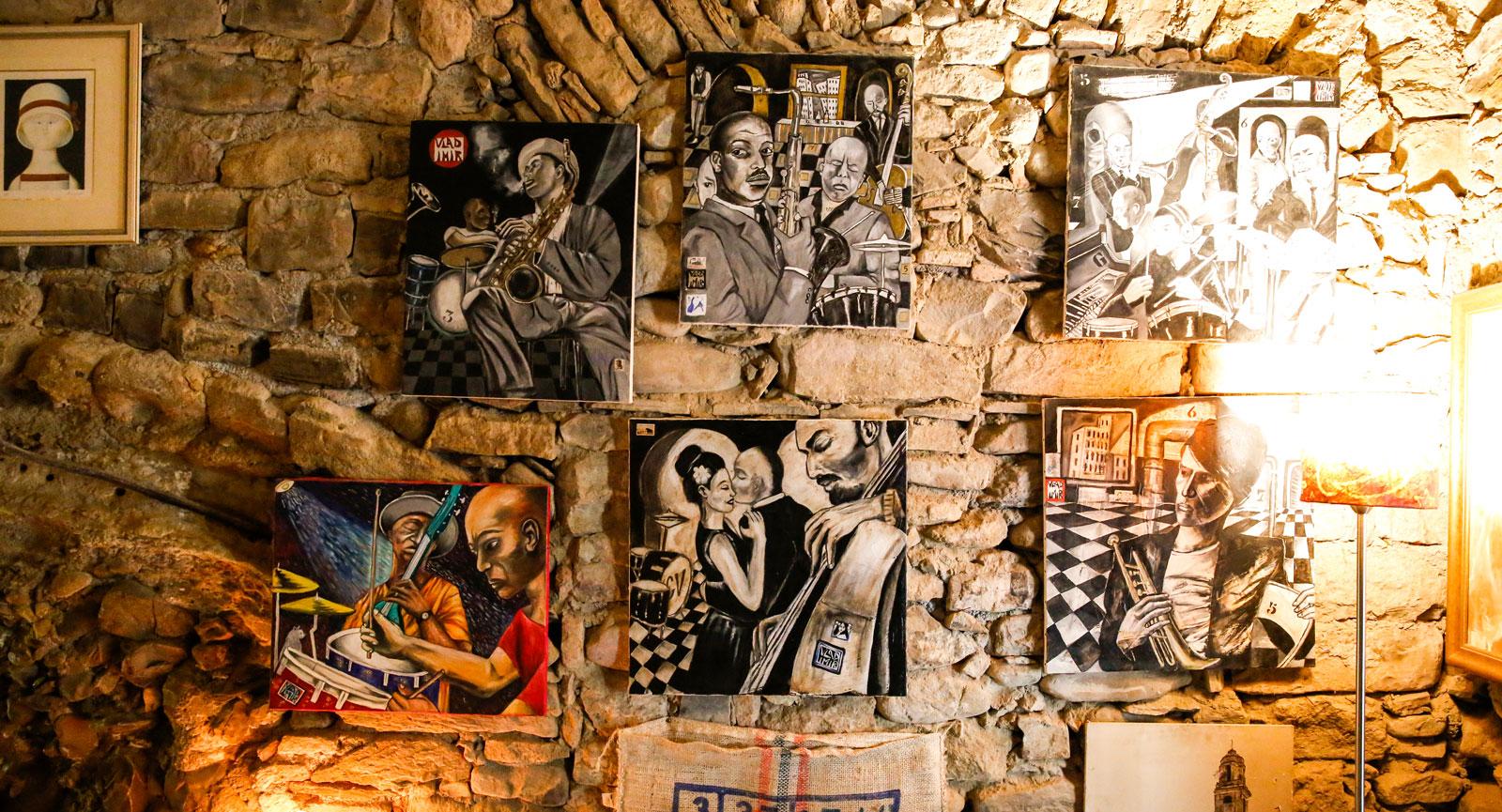 Härliga miljöer på jazzklubben Bussana Jazz Club.