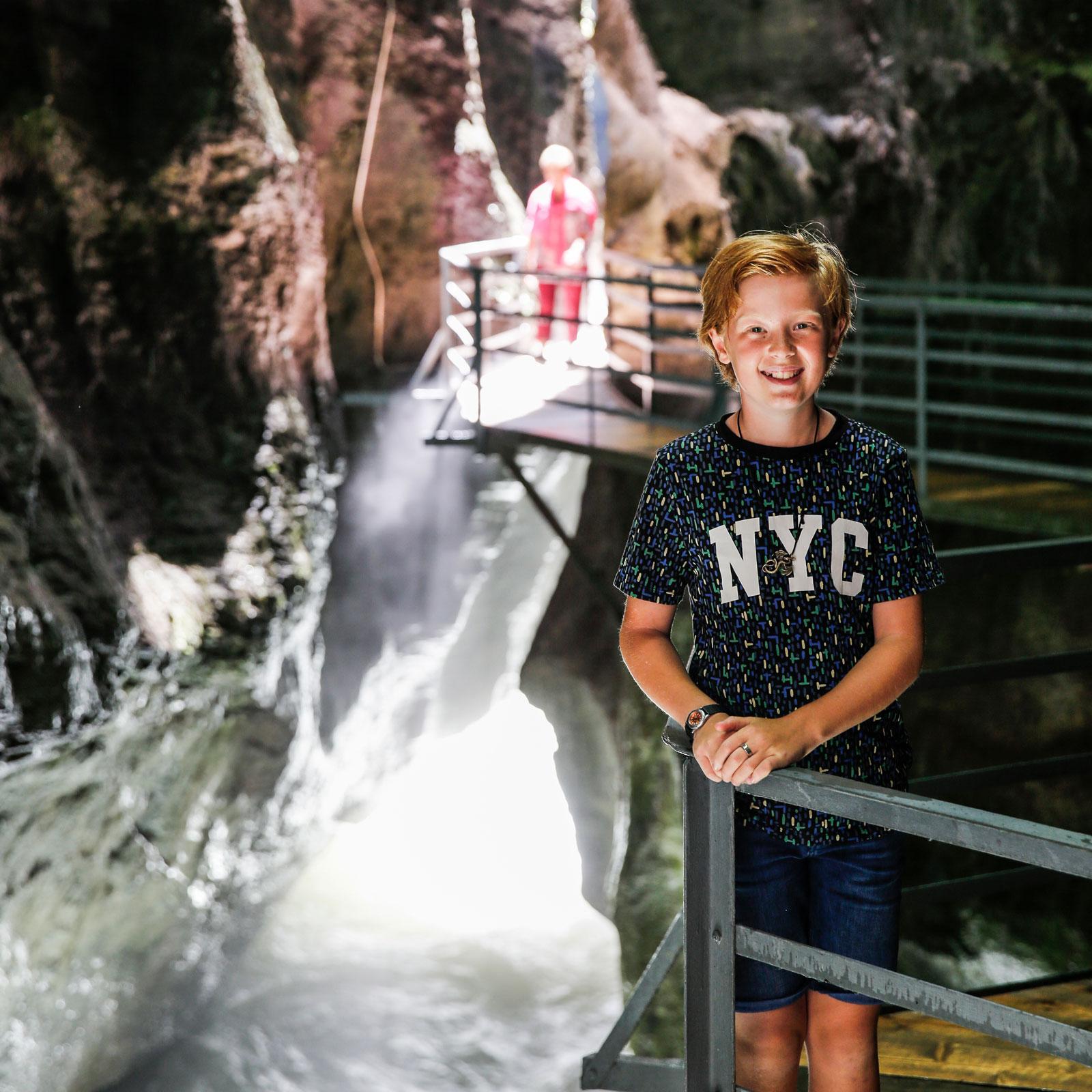 Kalle 12 år älskar utmaningarna i Aaresravinen.