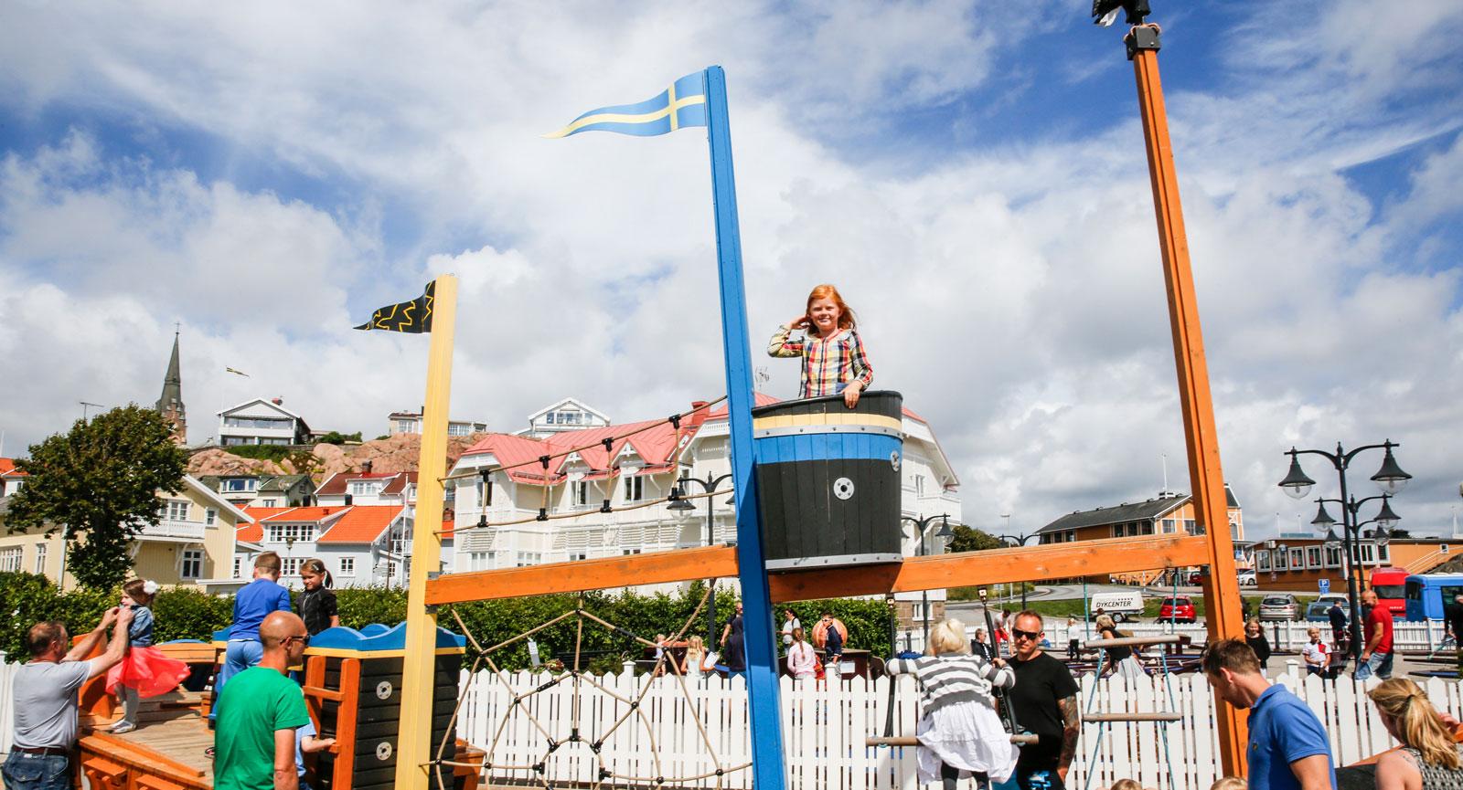 Utanför Havets Hus finns en inspirerande lekplats som barnen älskar.
