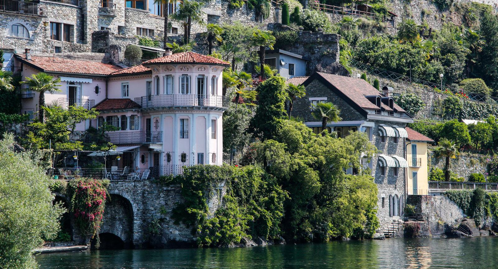 Fantastiska områden kring Cannero, Lago Maggiore.