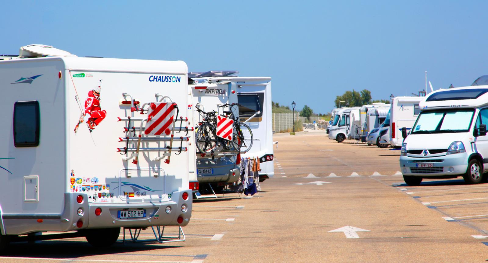 Ställplatsen Aire de Camping Car.