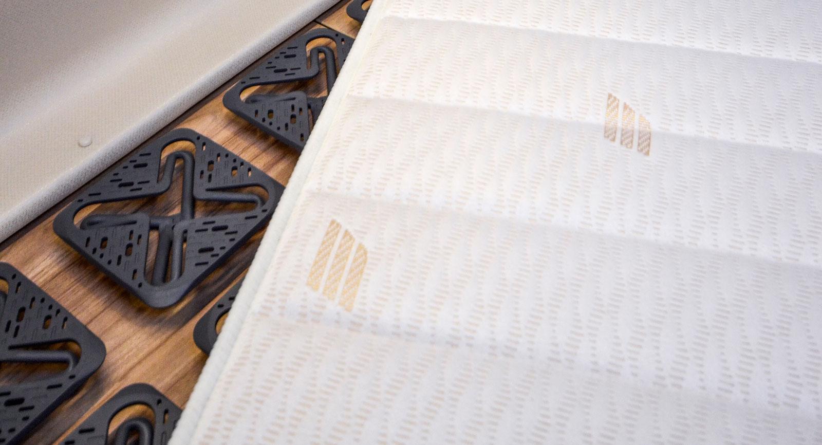 Hymertypisk kvalitet i madrasser och med Froli-fjädrar under.