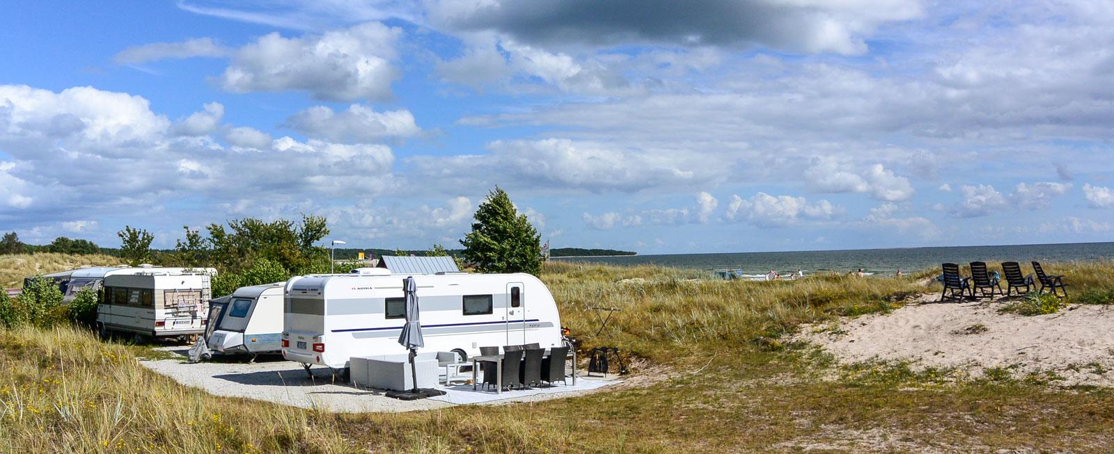 Första parkett. Campingen i Sudersand erbjuder platser med drömlika vyer som denna.