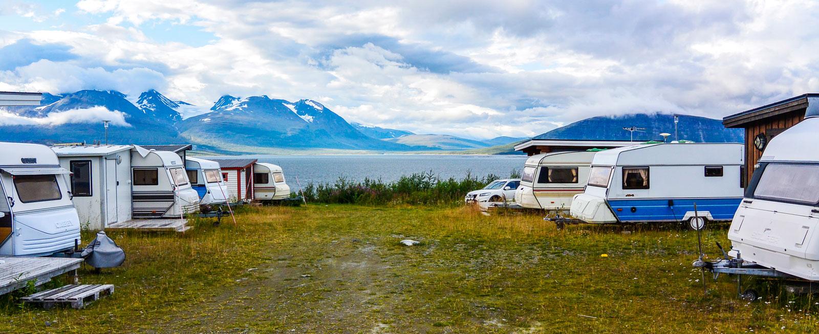 Vacker vy från campingen.