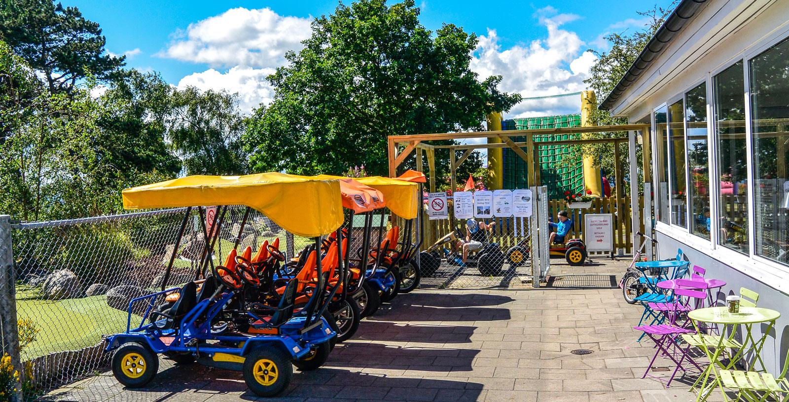 Trampbils- och cykeluthyrning var det här!
