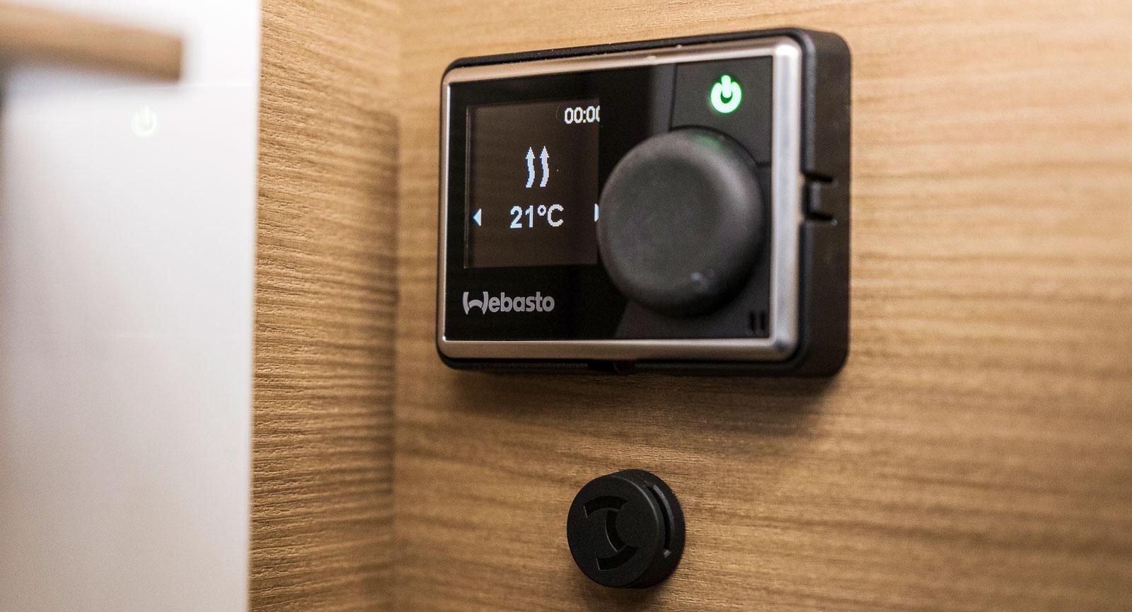 Webasto har en ny digital display till dieselvärmaren.