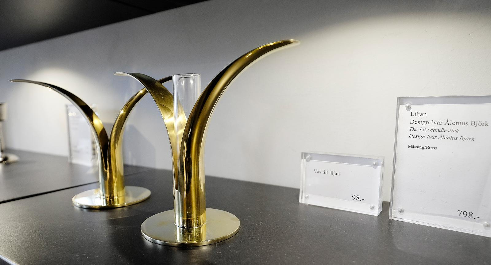 Liljan och ljuslyktorna från Lara Bohinc är några av de mest kända produkterna från Skultuna.