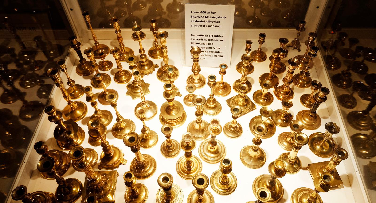 Ljusstakar har tillverkats i många olika former under årens lopp i Skultuna.