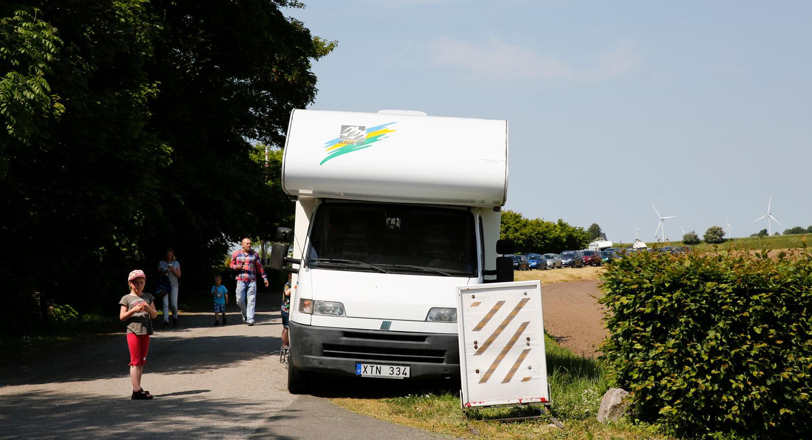 Det är stundtals trångt vid Glimmingehus. I synnerhet under de populära riddarspelen i mitten av juni.