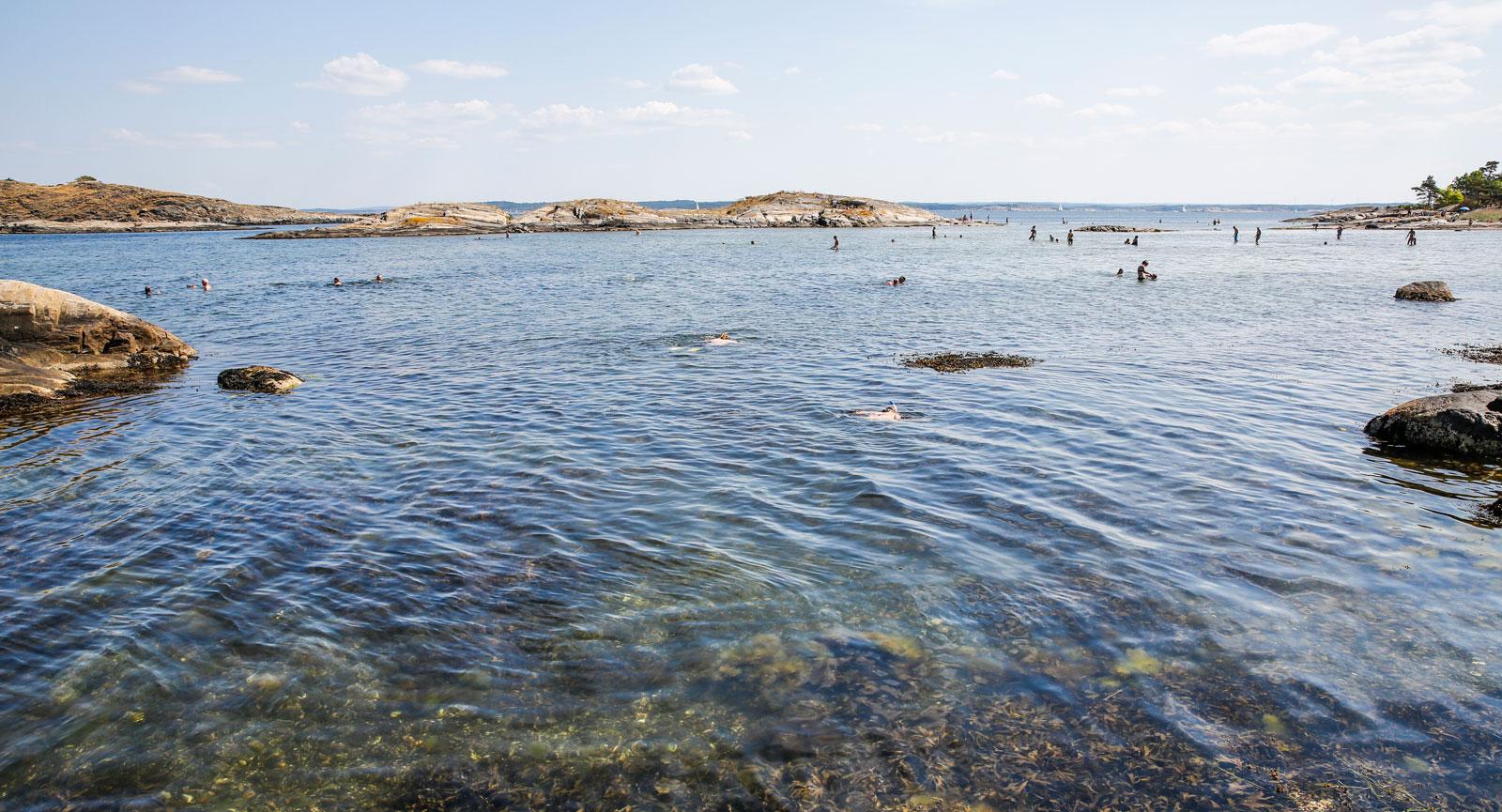 Fantastiska bad- och snorkelvatten på Sydkoster.