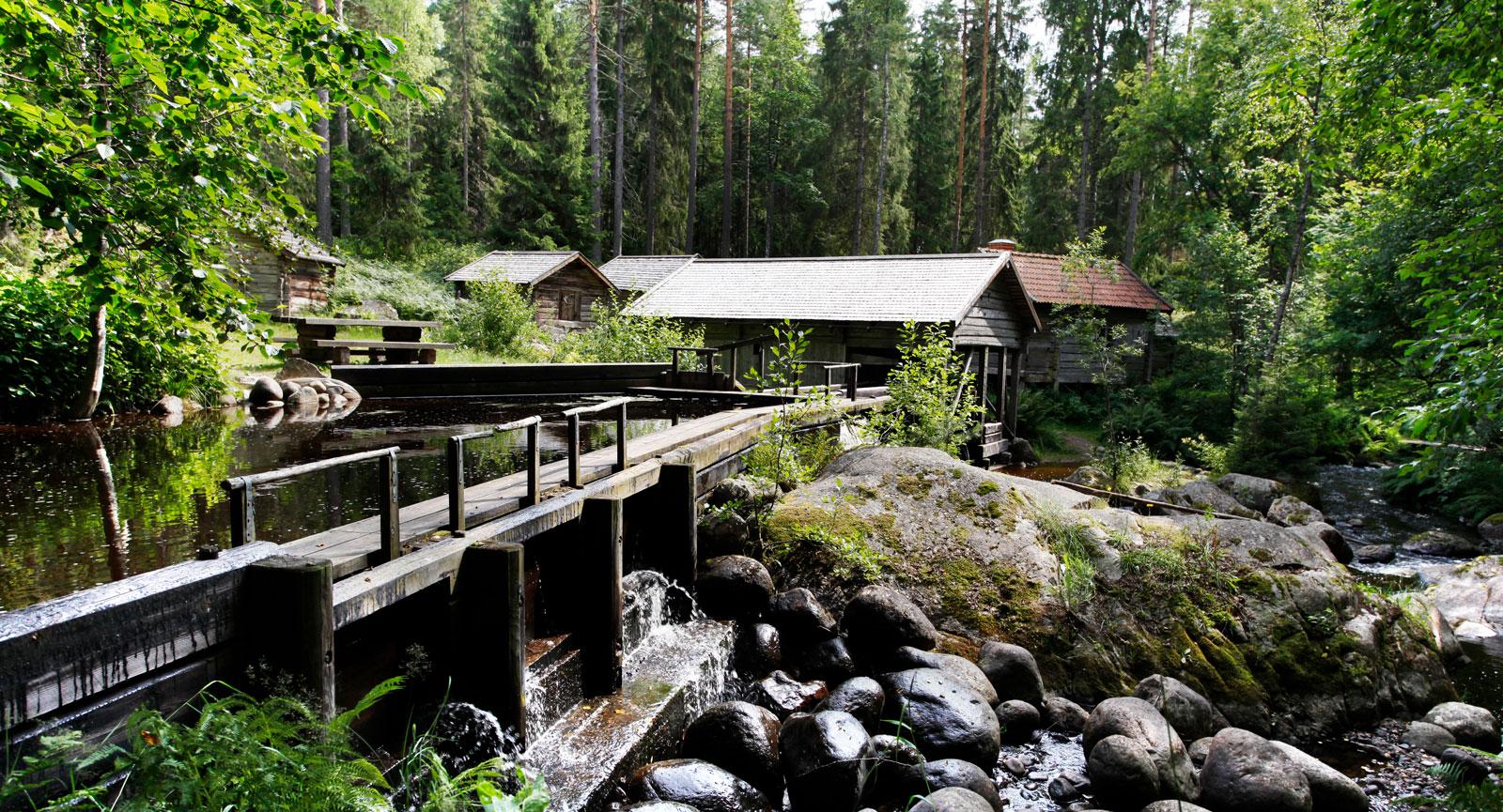 Växboån porlar fram genom Trolldalen nedanför Uppsalaåsen.