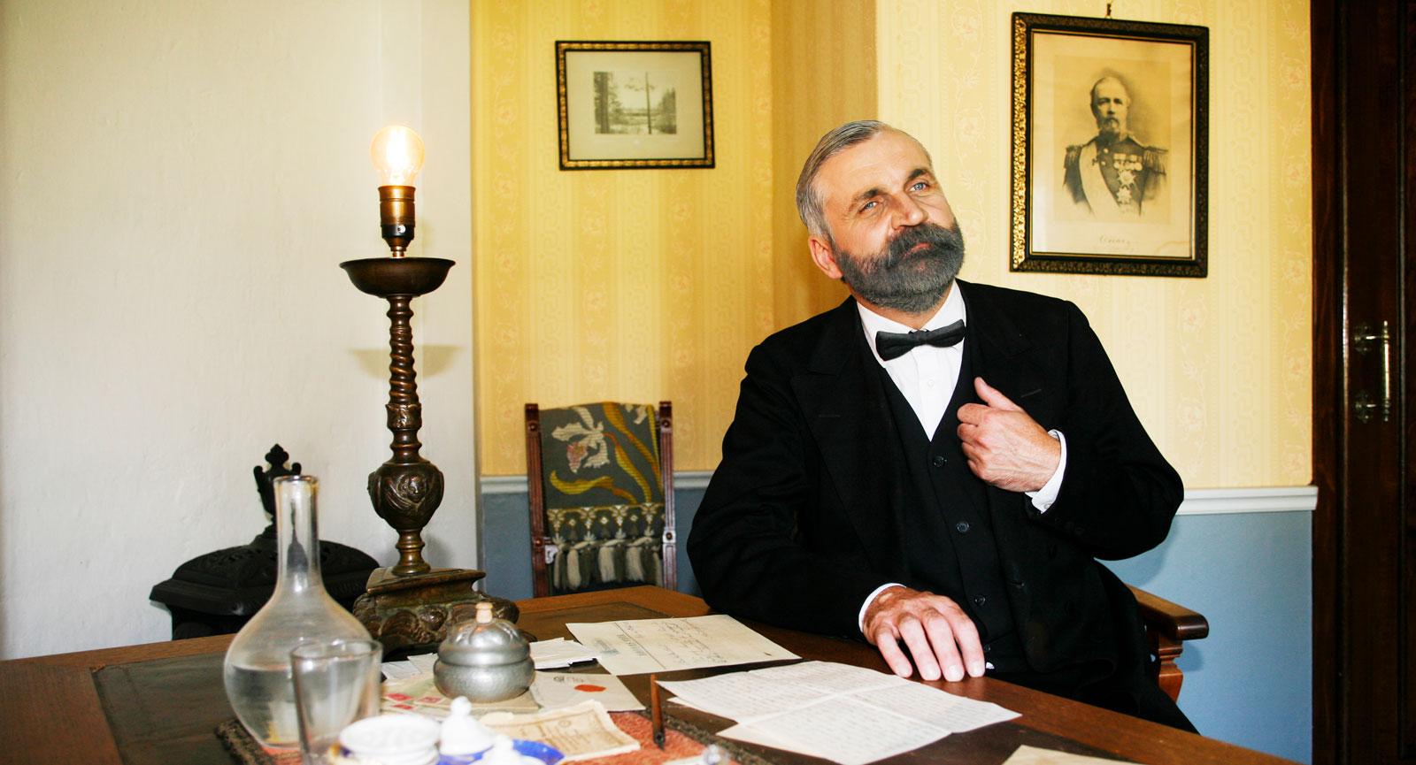 Ett brev författat av självaste Alfred Nobel på Brukskontoret.