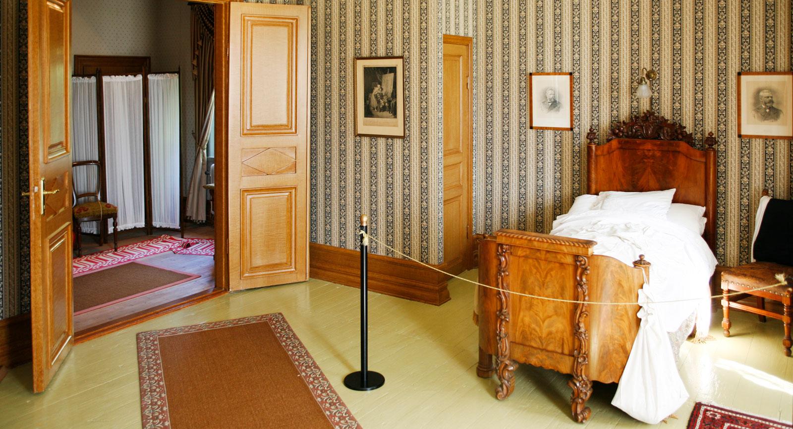 Sovrummet där Alfred Nobel sov under somrarna.