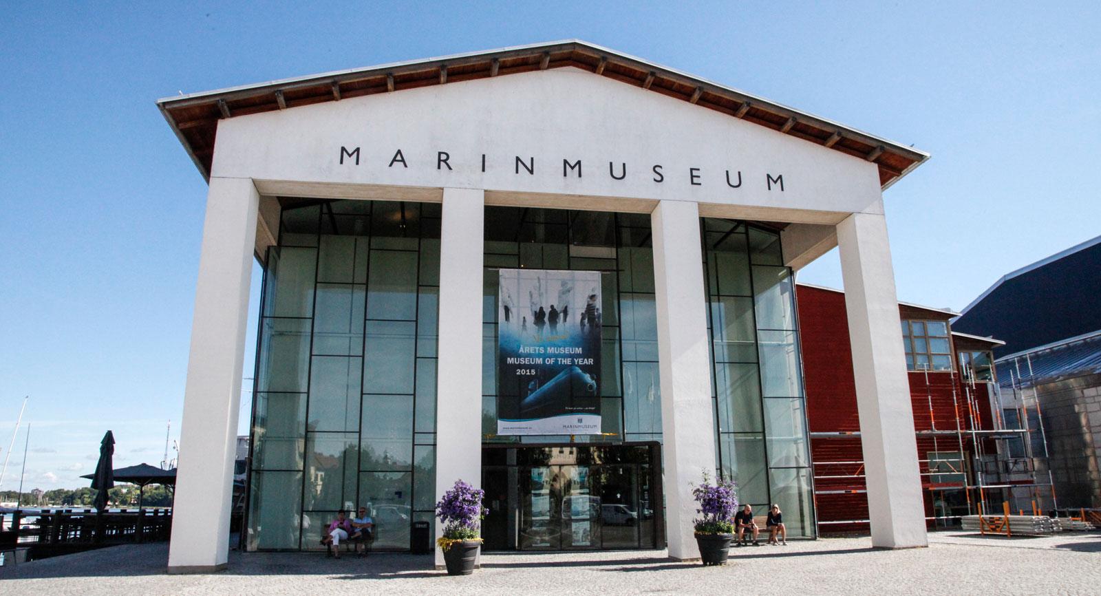 Marinmuseet ligger på Stumholmen i Karlskrona.