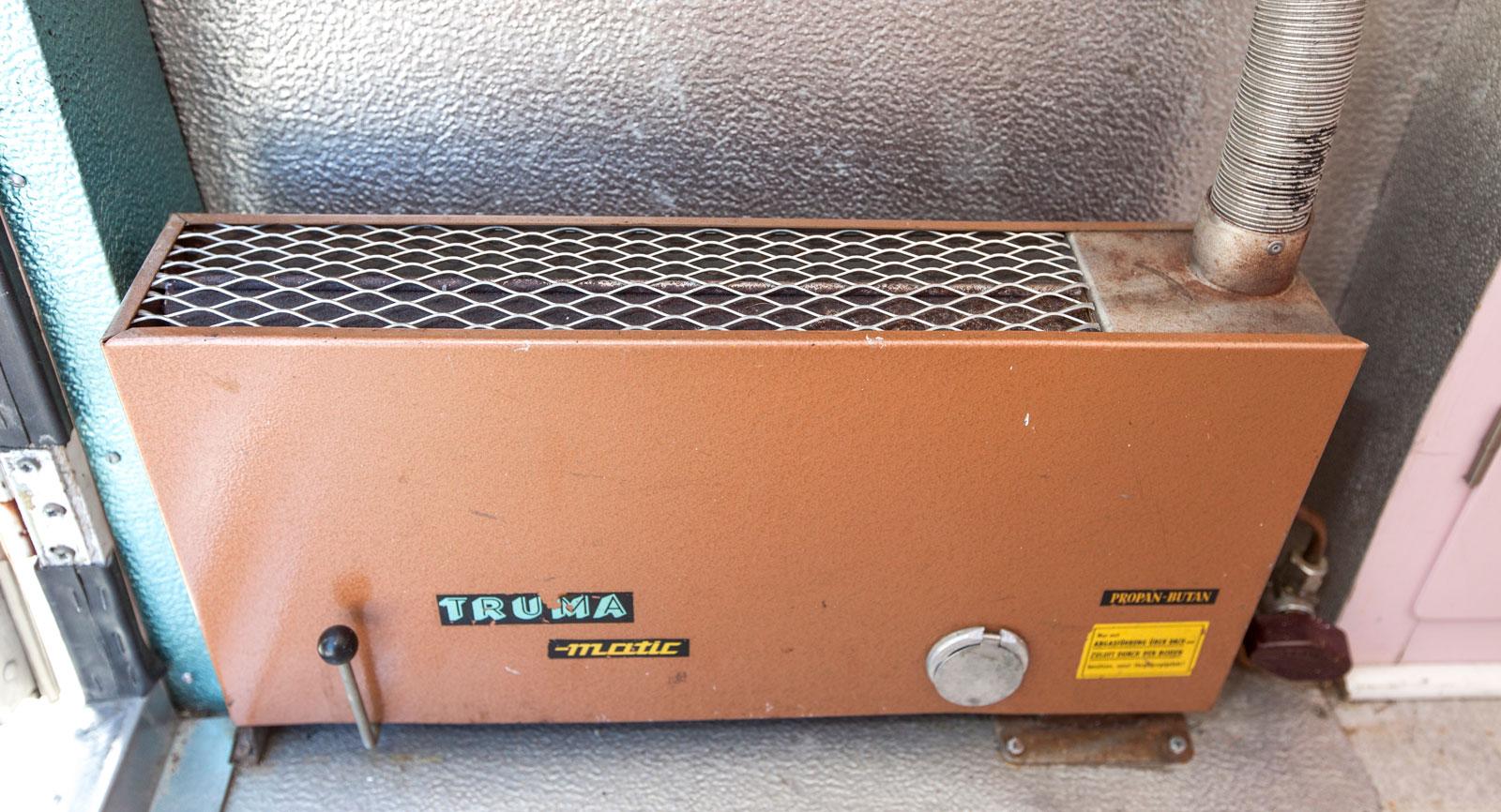 Värmaren från Truma ser nästan ut att vara helt ny.