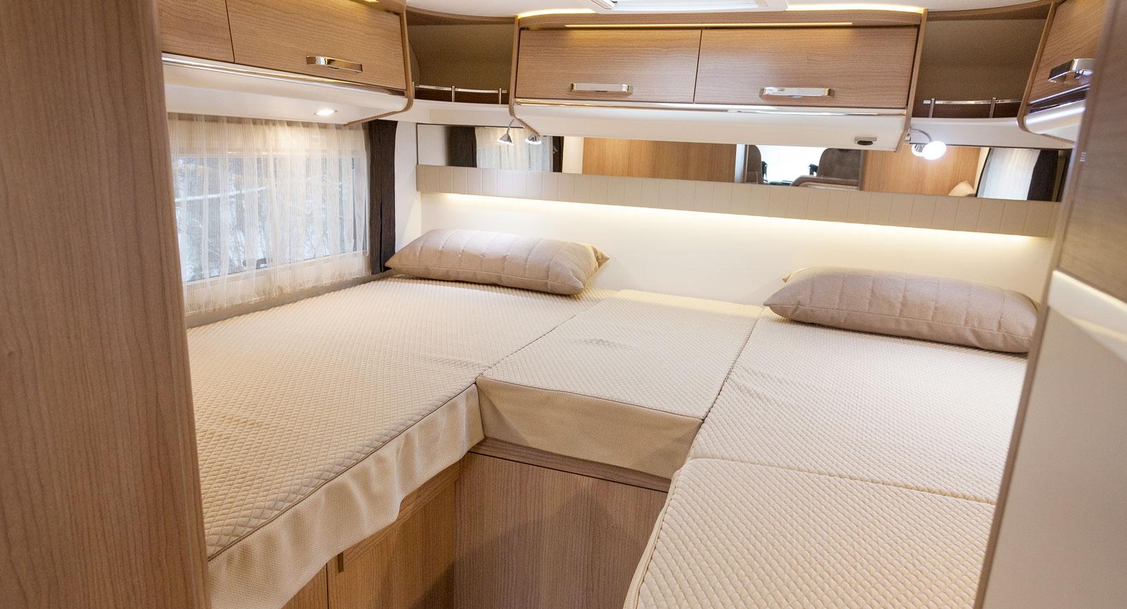 I likhet med den nedfällbara sängen är långbäddarnas liggkomfort superb! Hade I460 funnits på Törnrosas tid hade hon troligen sovit fortfarande.