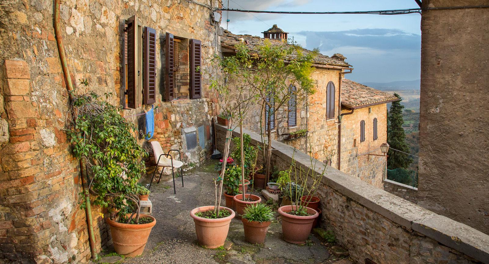 Långt ifrån det mest kända stället i San Gimignano, men  likväl ett väldigt mysigt hörn.