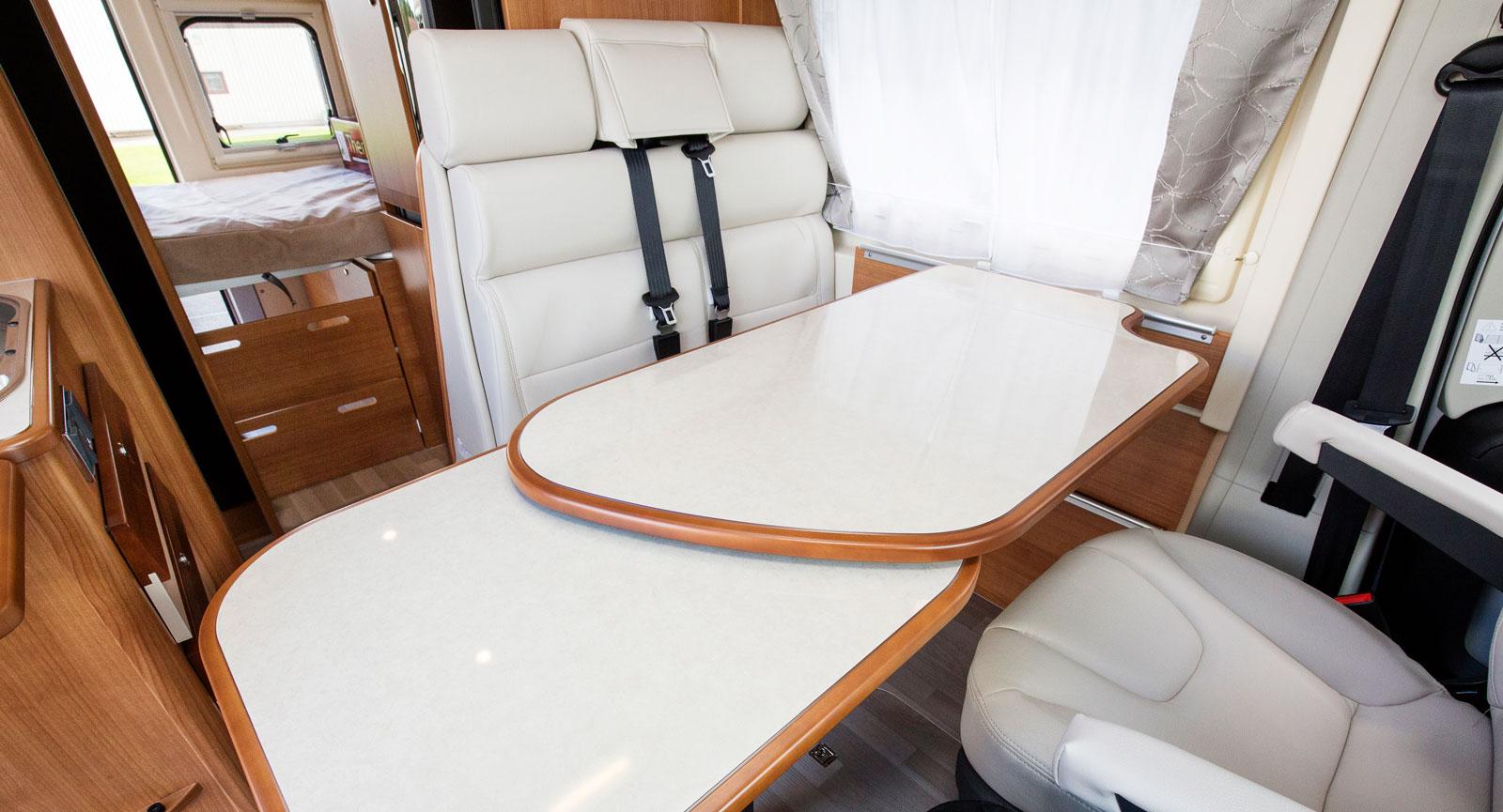 Extra bordsyta kan enkelt vridas ut men se upp med nivåskillnaden.