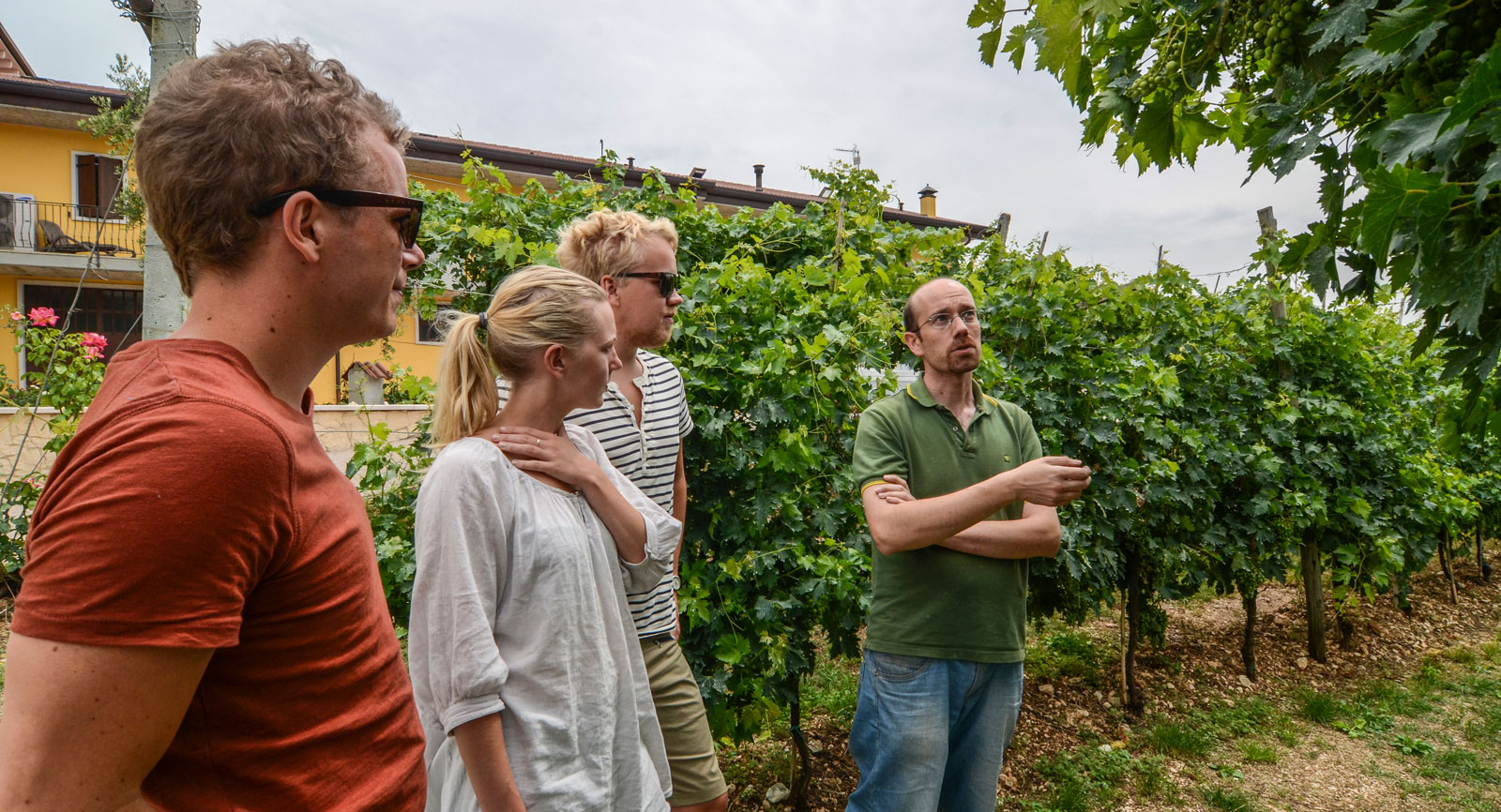 På Fratelli Vogadori fick vi en rundvandring av ägaren, tänk vad mycket vi fick lära oss om vin den dagen!