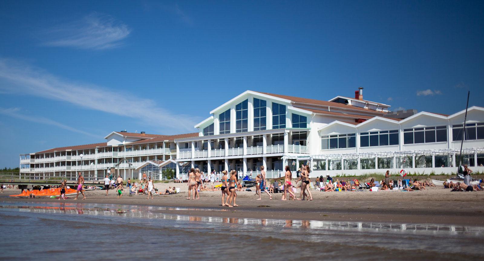 Falkenberg Strandbad har prisbelönt spa och klart havsnära läge.