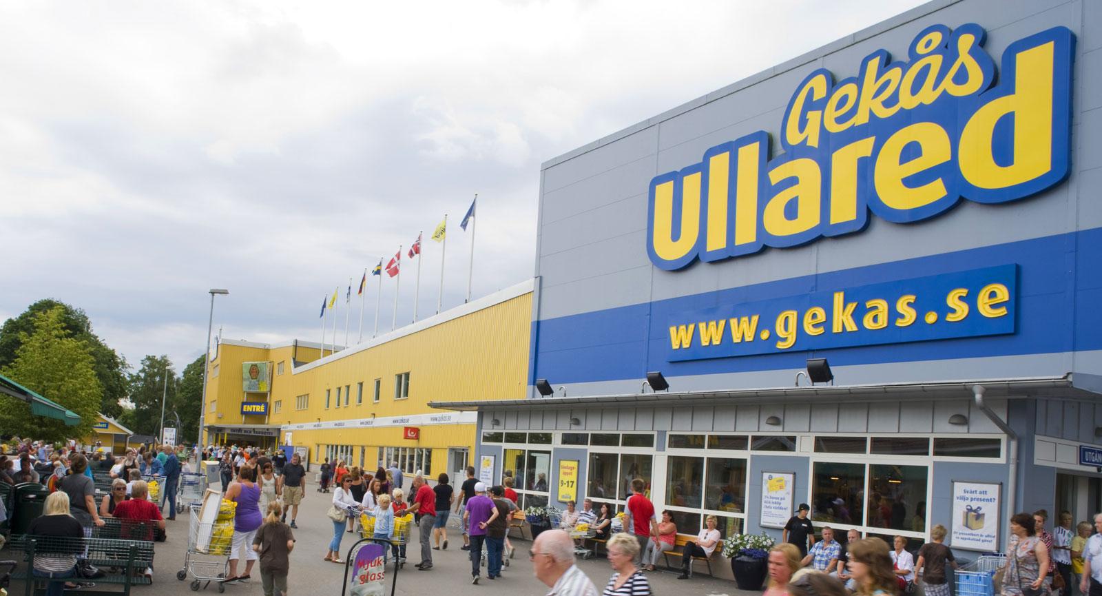 """Gekås i Ullared – """"shop til you drop"""". Bild: Halland.se."""