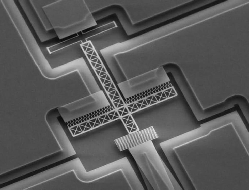 Den nya typen av lidar mäter cirka 100 mikrometer och ser ut så här om man tittar på den i mikroskop.