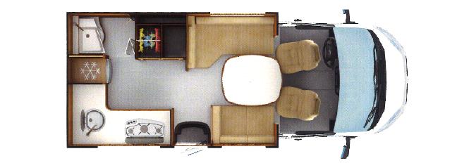 Rapido 604 FF – med fyra hjul och kök