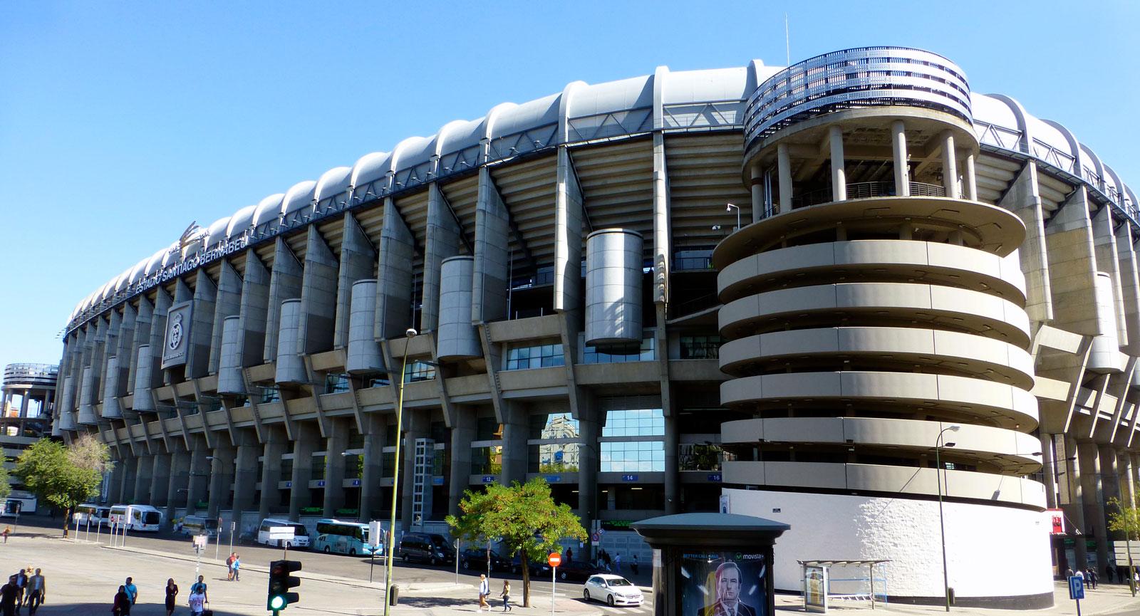 Estadio Bernabéu, hemmaarena för Real Madrid.